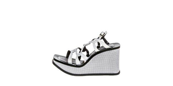 Dámske šedé sandále na kline El Dantes