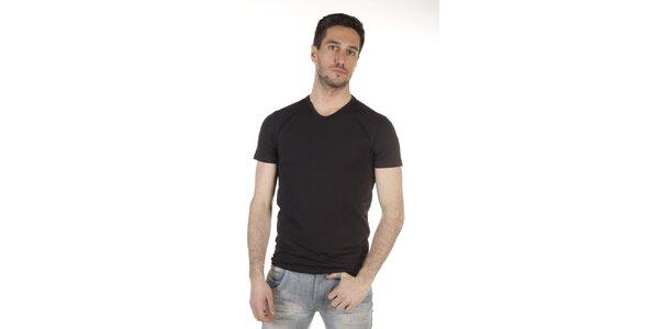 Pánske čierne tričko SixValves