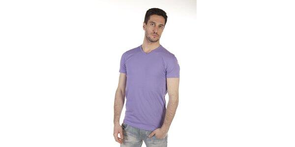Pánske fialkové tričko SixValves