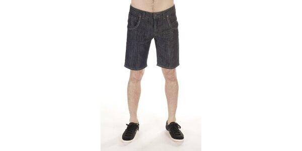 Pánske tmavé džínsové kraťasy SixValves