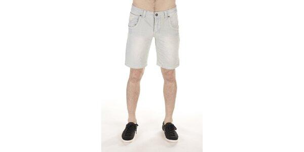 Pánske svetlé džínsové kraťasy SixValves
