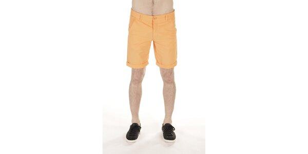 Pánske oranžové bavlnené šortky SixValves