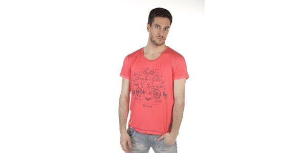 Pánske ružové tričko SixValves