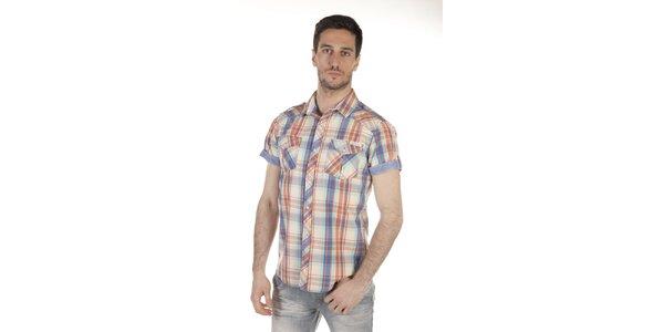 Pánska viacfarebná košeľa s vreckami SixValves