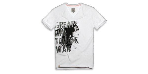 Pánske biele tričko s nápisom Paul Stragas