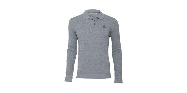 Pánsky šedý sveter s límčekom Paul Stragas