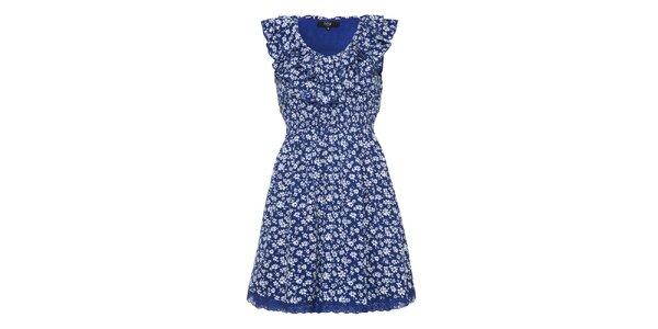 Dámske modré romantické šaty Iska