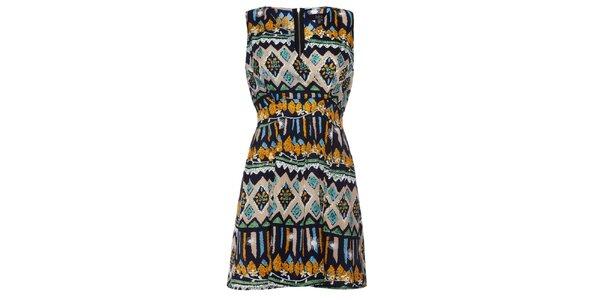 Dámske pestrofarebné vzorované šaty Iska