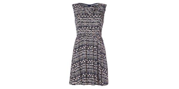 Dámske tmavo modré šaty bez rukávov Iska