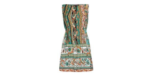 Dámske pestrofarebné šaty Iska