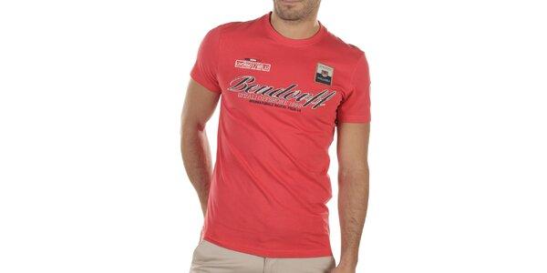 Pánske červené tričko s výšivkami Bendorff