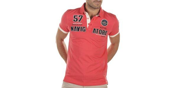 Pánske červené polo tričko s výšivkami Bendorff