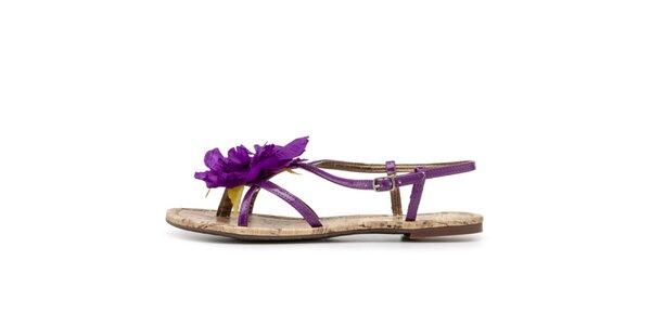 Dámske sandálky s fialovou kvetinou Blink