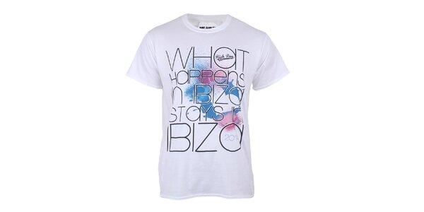 Pánske biele tričko s nápisom Not Guilty Rich Boy