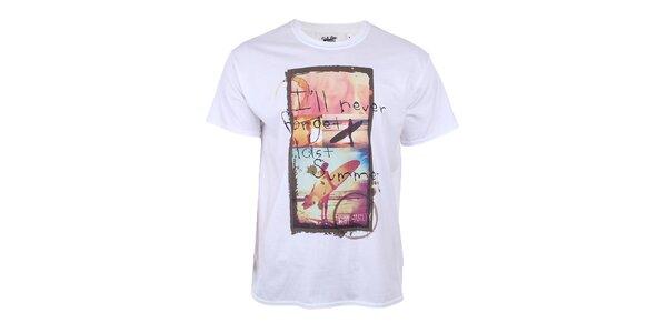 Pánske biele tričko s letným motívom Not Guilty Rich Boy