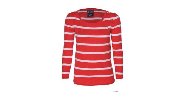 Dámske červeno-biele pruhované tričko Giorgio di Mare