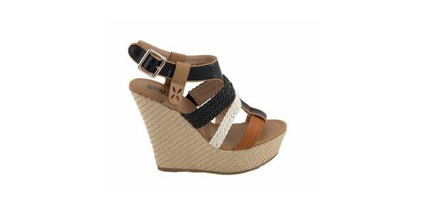 Dámske remienkové sandálky na kline Vanessa