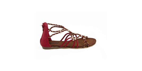 Dámske červené remienkové sandálky Vanessa