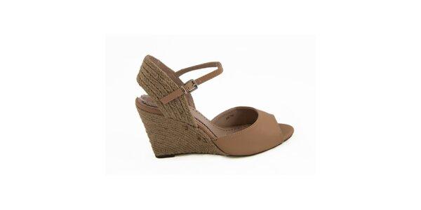 Dámske hnedé topánky na kline Vanessa