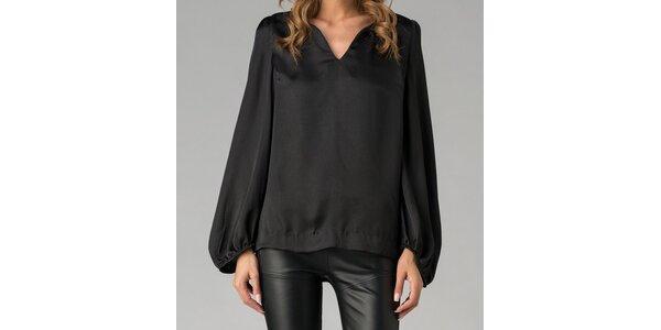 Elegantná čierna tunika Twist