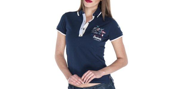 a5179ca51998 Dámske polo tričko v tmavo modrom odtieni Giorgio Di Mare