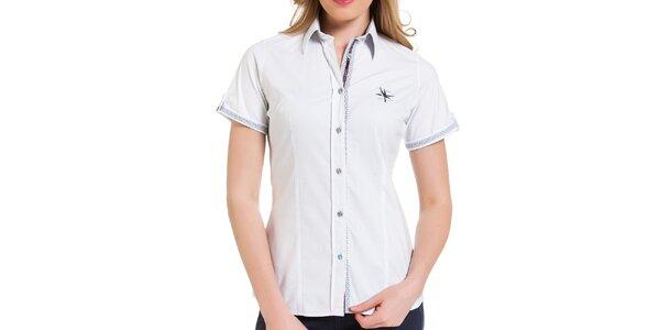 9366aaee75bd Dámska biela košeľa s krátkym rukávom Giorgio di Mare