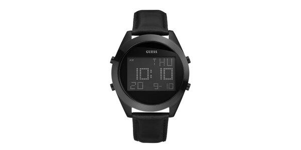 Pánske čierne digitálne hodinky Guess
