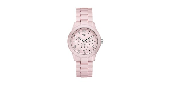 Dámske pastelovo ružové hodinky Guess