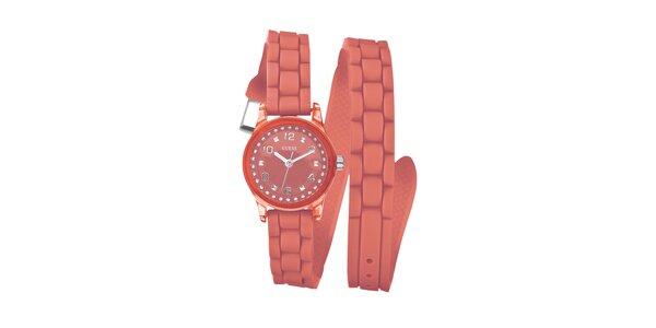 Dámske oranžové náramkové hodinky Guess