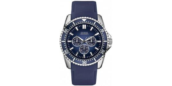 Športové modré pánske hodinky Guess