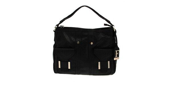 Čierna kabelka s dvomi vreckami Ferré