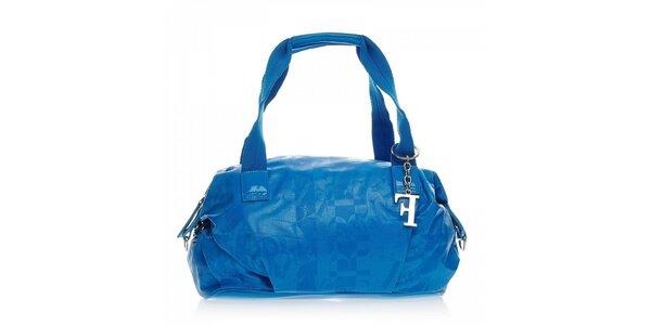 Modrá kabelka s príveskom Ferré