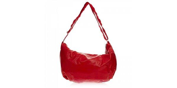 Červená jednoduchá kabelka Ferré