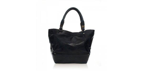 Čierna kožená kabelka Ferré