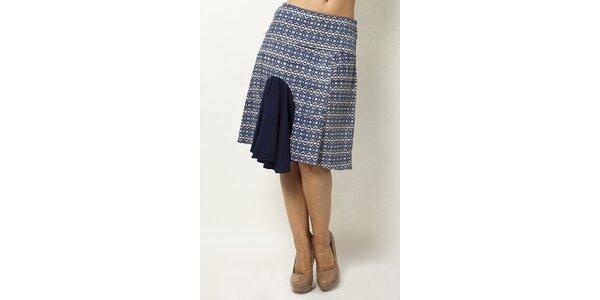 Vzorovaná sukňa s volánom Mahal