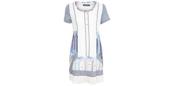Dámske modro-biele vzorované šaty Sugar Crisp
