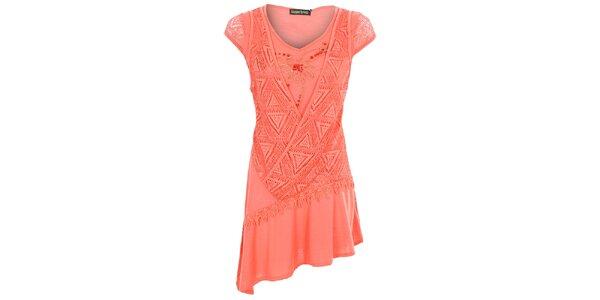 Dámske korálovo červené šaty Sugar Crisp