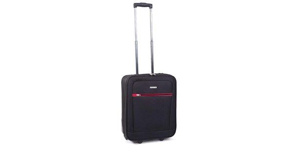 Čierny kufor s červeným detailom Ravizzoni