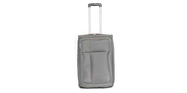 Stredne veľký šedý cestovný kufor Ravizzoni