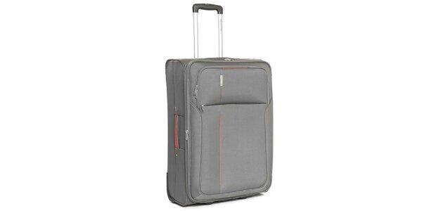 Veľký šedý cestovný kufor Ravizzoni