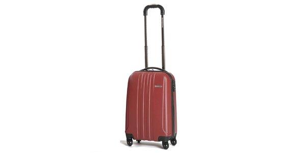 Menší pevný červený kufor Ravizzoni