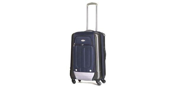 Stredný modrý kufor s kolieskami Ravizzoni