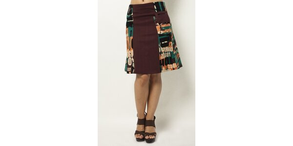 Farebná sukňa ku kolenám Mahal