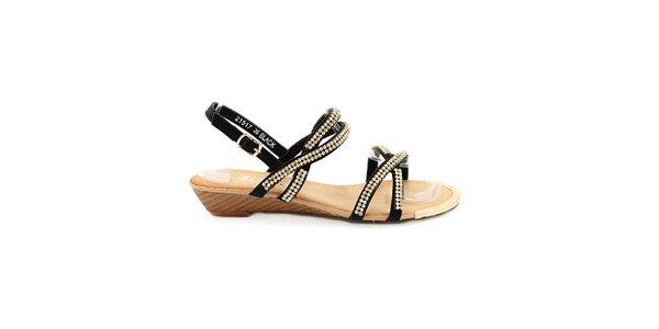 Dámske čierne remienkové sandále Bless