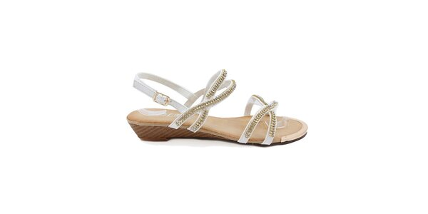 Dámske biele remienkové sandále Bless