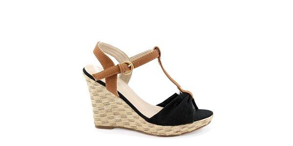 Dámske čierne sandále na kline Bless
