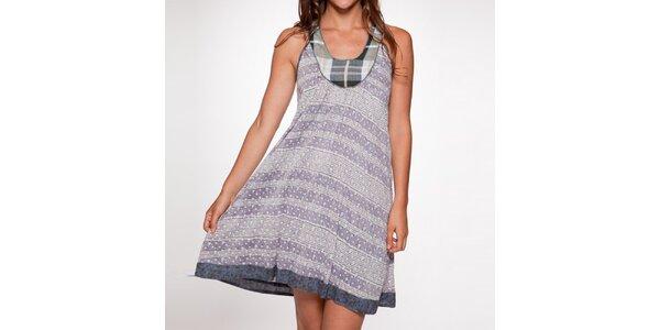 Dámske fialové šaty bez rukávov Ian Mosh
