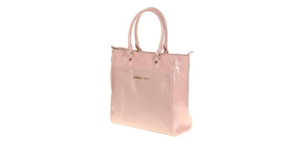 Dámska svetlo ružová lesklá taška Versace Jeans