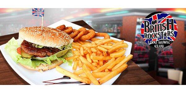 4 druhy burgerov s hranolkami