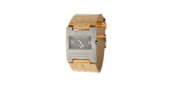 Dámske hodinky Marc O´Polo s béžovým koženým remienkom